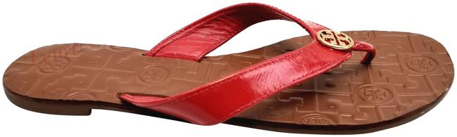Item - Red Patent Thora Thong Flats Leather Sandals Size US 9 Regular (M, B)