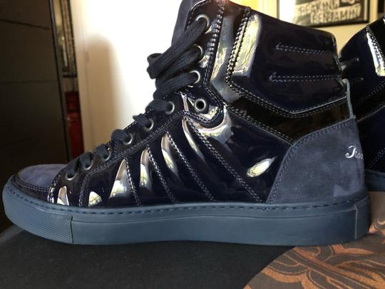 Roberto Cavalli navy suede and patent leather Athletic Image 5