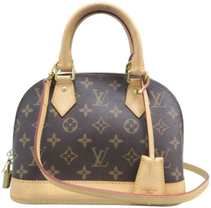 Louis Vuitton Lv Alma Bb Monogram Canvas Satchel in Brown - item med img