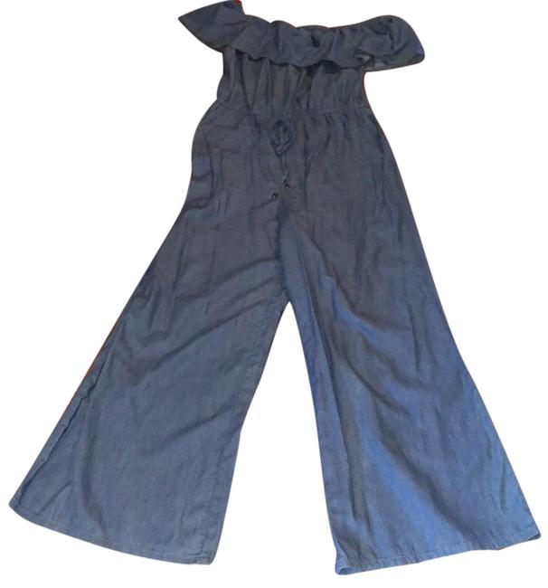 Item - Blue Size Medium Romper/Jumpsuit