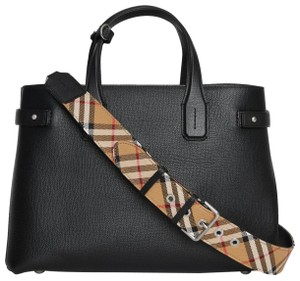Burberry Banner Medium Satchel Check Shoulder Bag