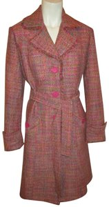 ice Color Tweed Silk Blend Onm001 Trench Coat