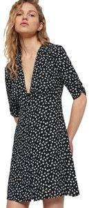 AllSaints short dress Black Floral on Tradesy