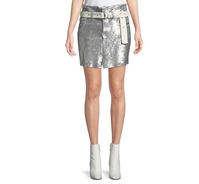Item - Silver Natou Belted Skirt Size 8 (M, 29, 30)
