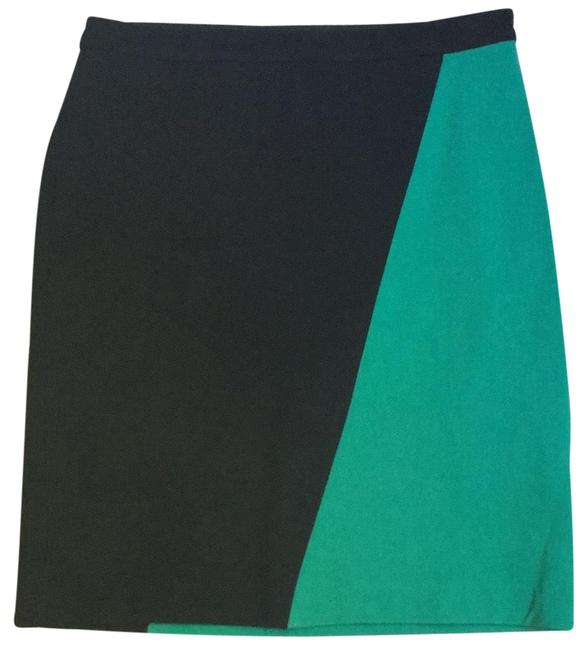 Item - Black and Green Color Block Skirt Size 0 (XS, 25)