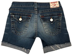 True Religion Cut Off Shorts Blue jean