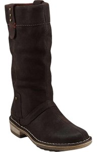 Clarks Slouchy Suede Mid-calf Dark Brown 100% Leather Boots