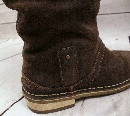 Clarks Slouchy Suede Mid-calf Dark Brown 100% Leather Boots Image 4