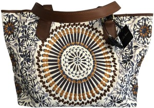 f50522a3e Cole Haan New Bohemian Beach Embroidered Tote in Brown Neutral Muti Color