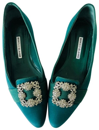 Preload https://img-static.tradesy.com/item/25617731/manolo-blahnik-green-rare-emerald-dark-hangisi-marria-loafer-flats-size-eu-39-approx-us-9-regular-m-0-3-540-540.jpg