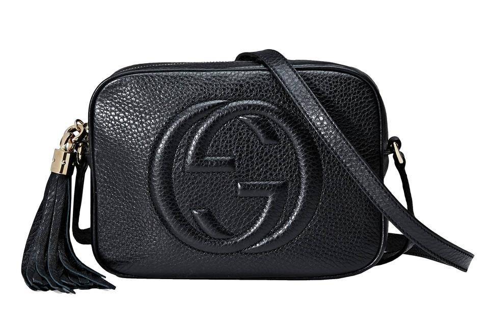 11c2799a1 Gucci Soho Disco Small Black Leather Cross Body Bag - Tradesy
