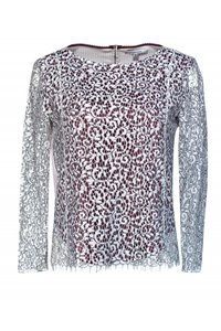 Carven White Lace T Shirt red