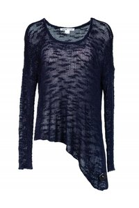 Helmut Lang Navy Blue Knitted Sweater