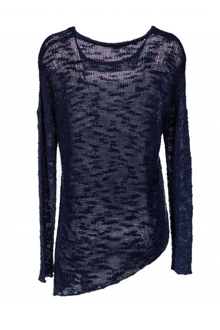 Helmut Lang Navy Blue Knitted Sweater Image 2