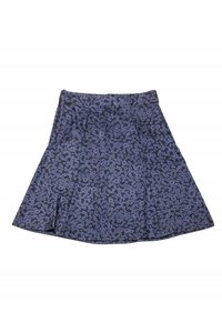 Marc Jacobs Navy Silk Floral Skirt