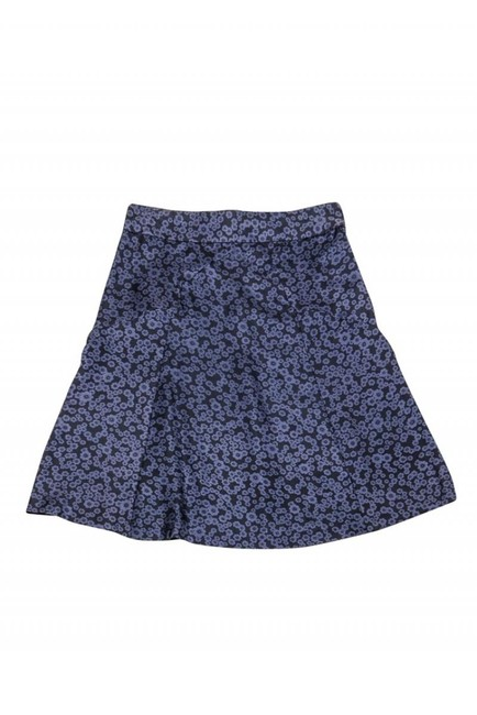 Marc Jacobs Navy Silk Floral Skirt Image 1