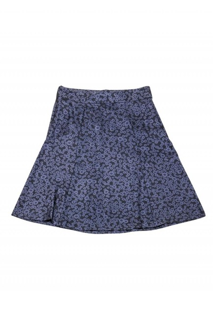 Marc Jacobs Navy Silk Floral Skirt Image 2