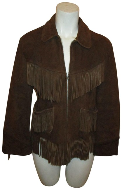 Preload https://img-static.tradesy.com/item/25618105/brown-vintage-fringed-suede-jacket-size-petite-4-s-0-1-650-650.jpg
