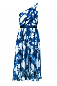 Shoshanna short dress blue Gowns Marbled White on Tradesy