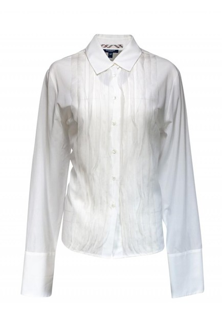 Burberry Collared T Shirt white Image 0