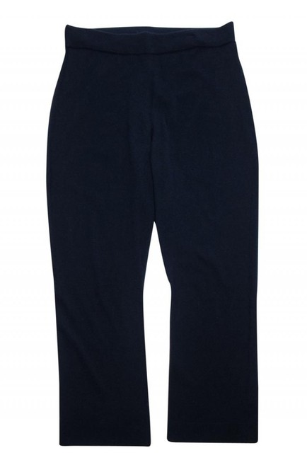 Eileen Fisher Casual Knitted Navy Straight Pants Image 2