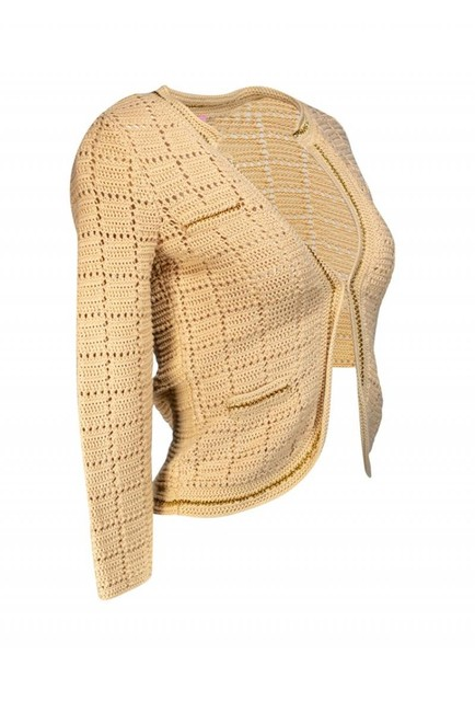 Lilly Pulitzer Beige Chain Link Sweater Image 1