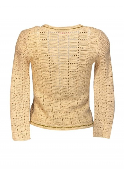 Lilly Pulitzer Beige Chain Link Sweater Image 2