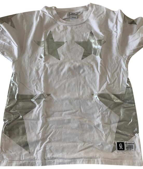 Preload https://img-static.tradesy.com/item/25618315/good-american-whitesilver-star-tee-shirt-size-os-one-size-0-1-650-650.jpg