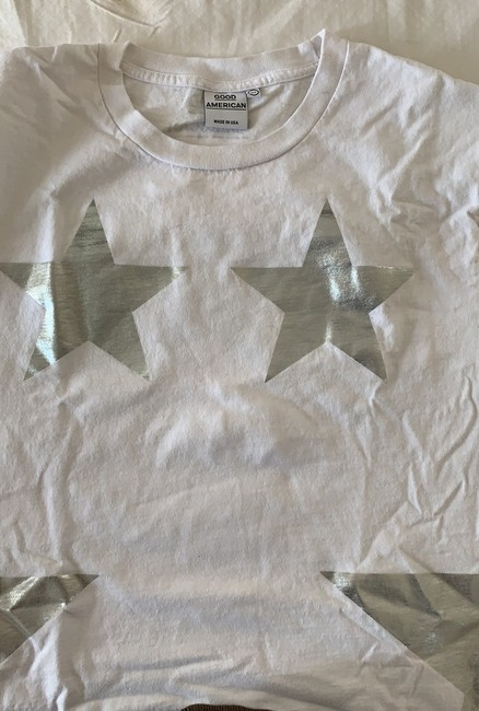 Good American T Shirt white/silver Image 2