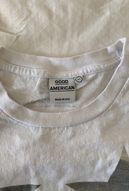 Good American T Shirt white/silver Image 3