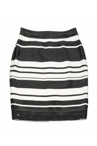 Kate Spade White Sequin Skirt Black