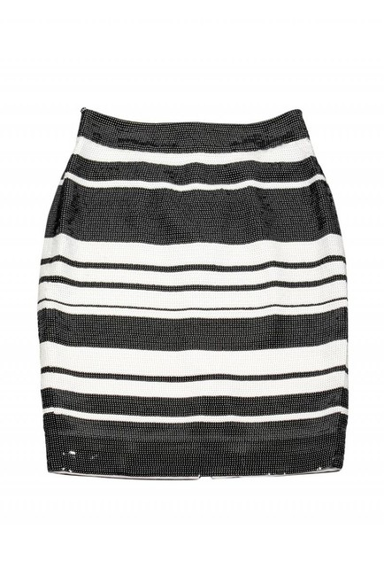 Kate Spade White Sequin Skirt Black Image 2