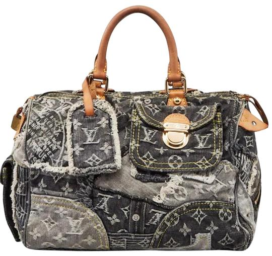 Preload https://img-static.tradesy.com/item/25618346/louis-vuitton-boston-bag-speedy-patchwork-30-doctors-blue-monogram-rare-limited-edition-jean-denim-c-0-3-540-540.jpg