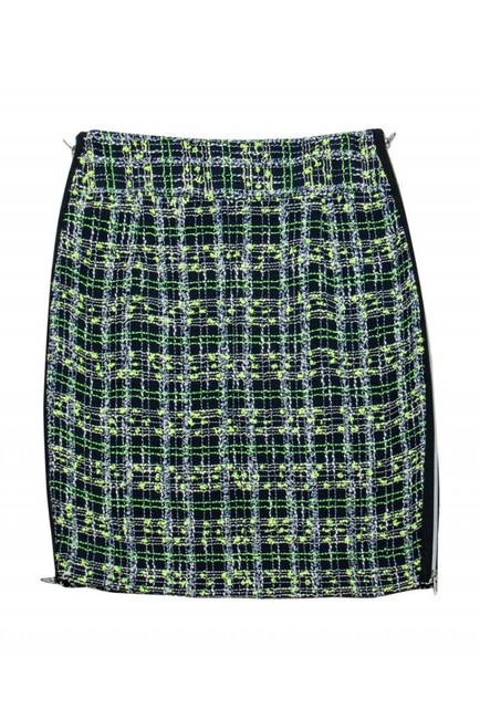 Milly Yellow Blue Plaid Skirt Image 1