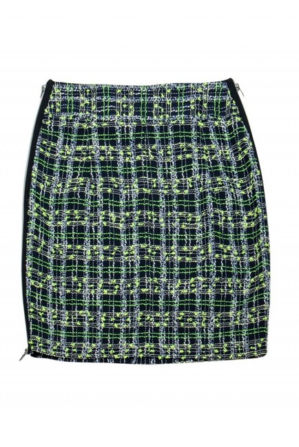 Milly Yellow Blue Plaid Skirt Image 2