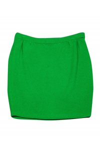 St. John Bright Knit Skirt Green