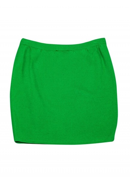 St. John Bright Knit Skirt Green Image 1