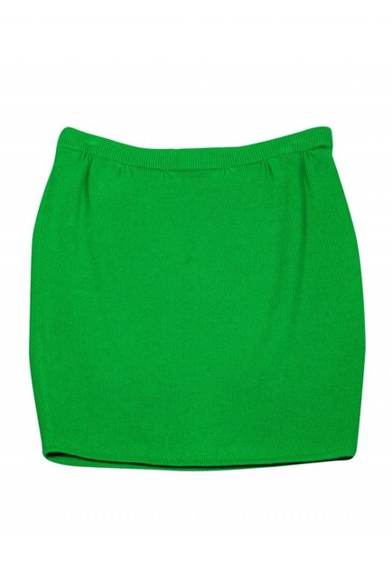 St. John Bright Knit Skirt Green Image 2