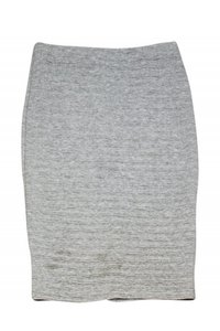 Barney's New York Grey Textured Pencil Skirt