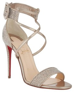 Christian Louboutin Stiletto Classic Choca Crisscross Strap Ankle Strap Colombe Pumps