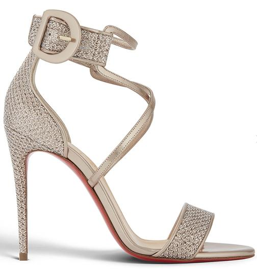 Christian Louboutin Stiletto Classic Choca Crisscross Strap Ankle Strap Colombe Pumps Image 2