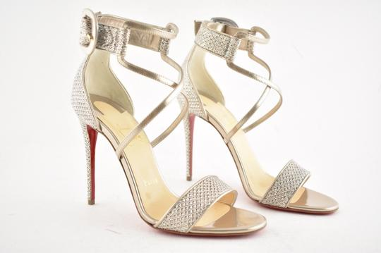 Christian Louboutin Stiletto Classic Choca Crisscross Strap Ankle Strap Colombe Pumps Image 3