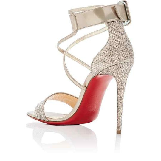 Christian Louboutin Stiletto Classic Choca Crisscross Strap Ankle Strap Colombe Pumps Image 7
