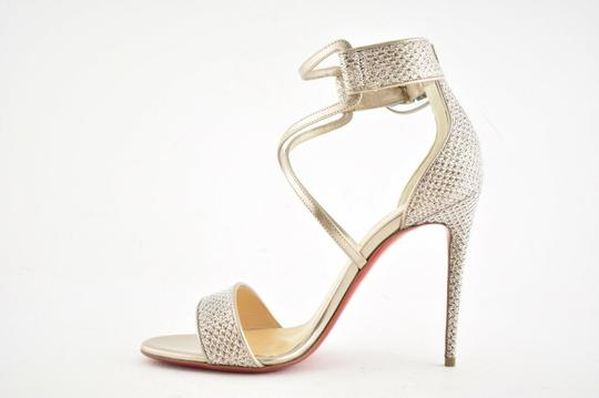 Christian Louboutin Stiletto Classic Choca Crisscross Strap Ankle Strap Colombe Pumps Image 8