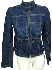 French Connection Moto blue Womens Jean Jacket