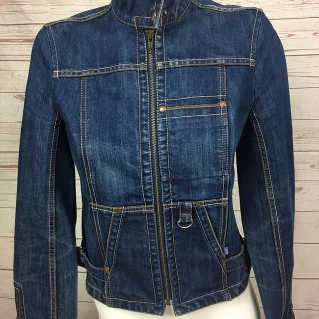 French Connection Moto blue Womens Jean Jacket Image 1