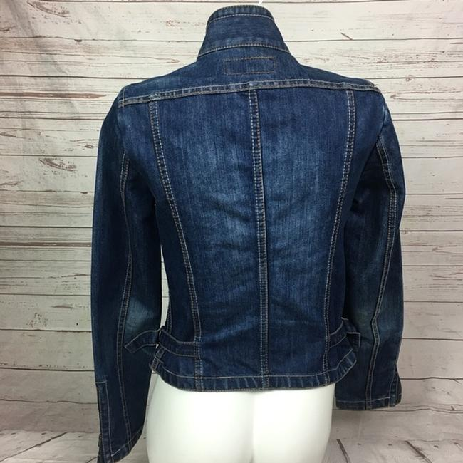 French Connection Moto blue Womens Jean Jacket Image 2