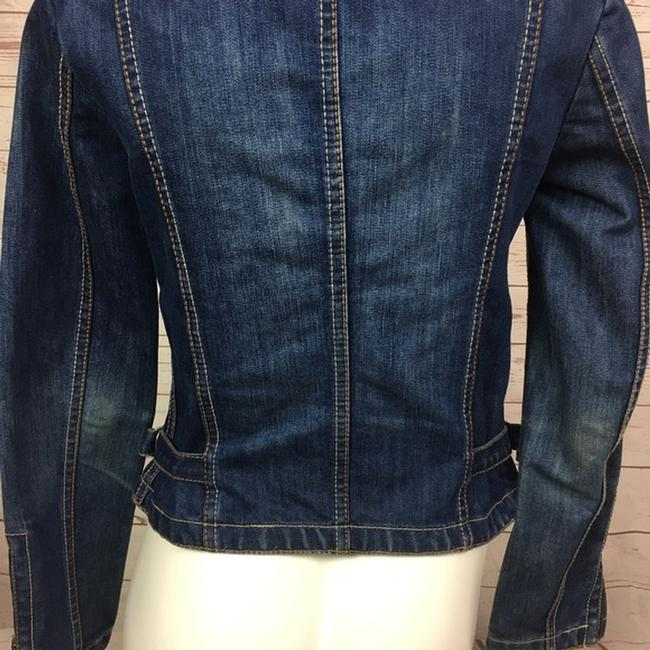 French Connection Moto blue Womens Jean Jacket Image 3