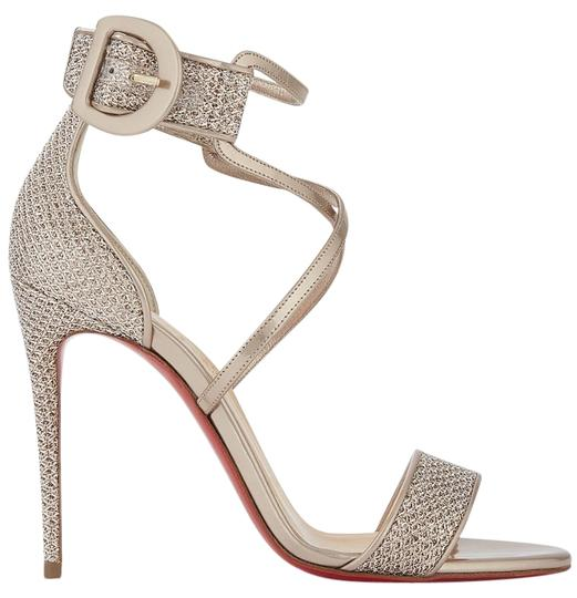 Preload https://img-static.tradesy.com/item/25618485/christian-louboutin-beige-choca-100-colombe-gold-criss-cross-ankle-strap-stiletto-sandal-heel-pumps-0-1-540-540.jpg