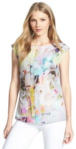 Ted Baker Floral Sleeveless Electric Day Dream Pleated Top